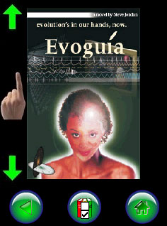 ZuluReader displaying cover of Evoguia