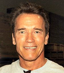 Arnold Schwarzenegger via Wikipedia - public domain photo