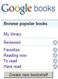 """""""Google My Library Bookshelves"""""""
