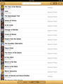 iBooks list view