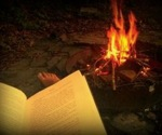 Reading by firelight1