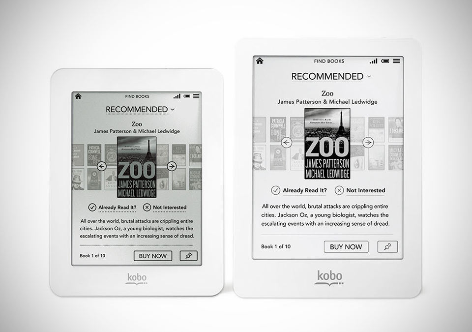 Kobo Mini, Kobo Glo, Kobo E-Readers