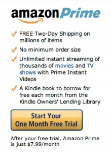 Amazon Prime monthly memberships