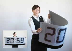 Citizen's E Ink bendable clock