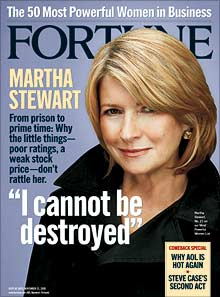 Fortune magazine, Martha Stewart, I cannot be destroyed