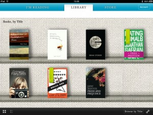 Kobo shelves feature