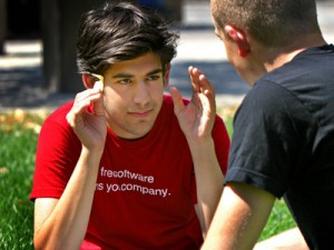 Aaron Swartz in red T-shirt