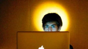 Aaron Swartz with halo