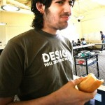 Aaron Swartz eating