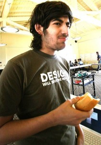 Aaron Swartz eating