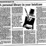 William F Buckley digital public library column