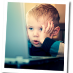 Child stressed out by excessive email