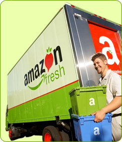Amazon Fresh truck Seattle delivery
