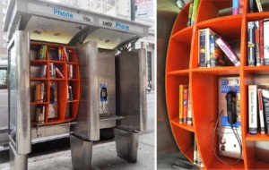 telephone booth library