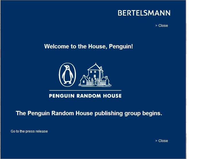 Bertelsmann Penguin Random House welcome banner