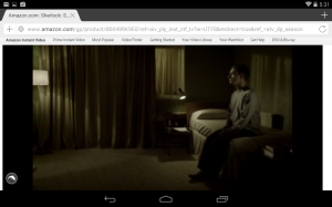 watching amazon instant on android kitkat