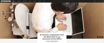 At Amazon, Employees Treat the Bathroom as an Extension of the Office - Motherboard