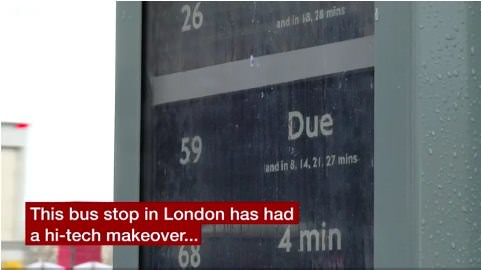 BBC London bus stop