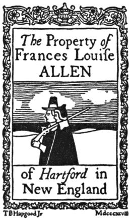 Ex Libris Frances Louise Allen