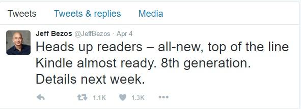 Jeff Bezos Tweet