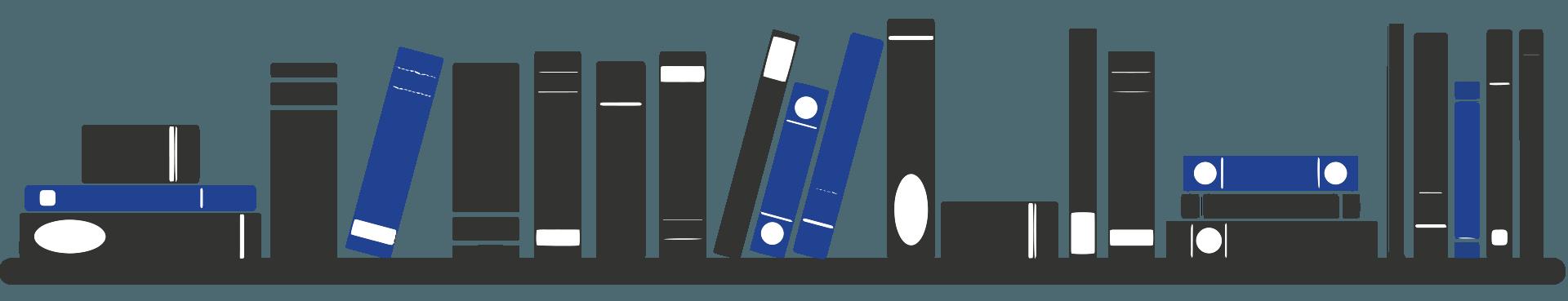 Radius bookshelf