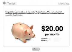 iTunes-Allowance