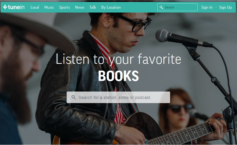 TuneIn audiobooks