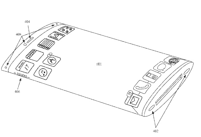 iPhone wraparound patent